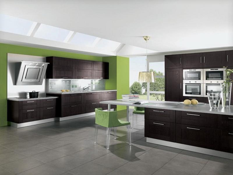 kitchen design ideas green photo - 1