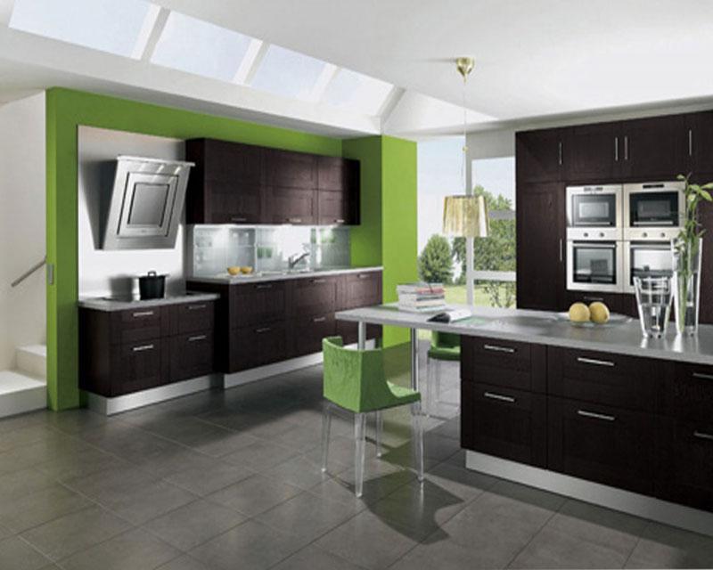 kitchen design ideas green photo - 3