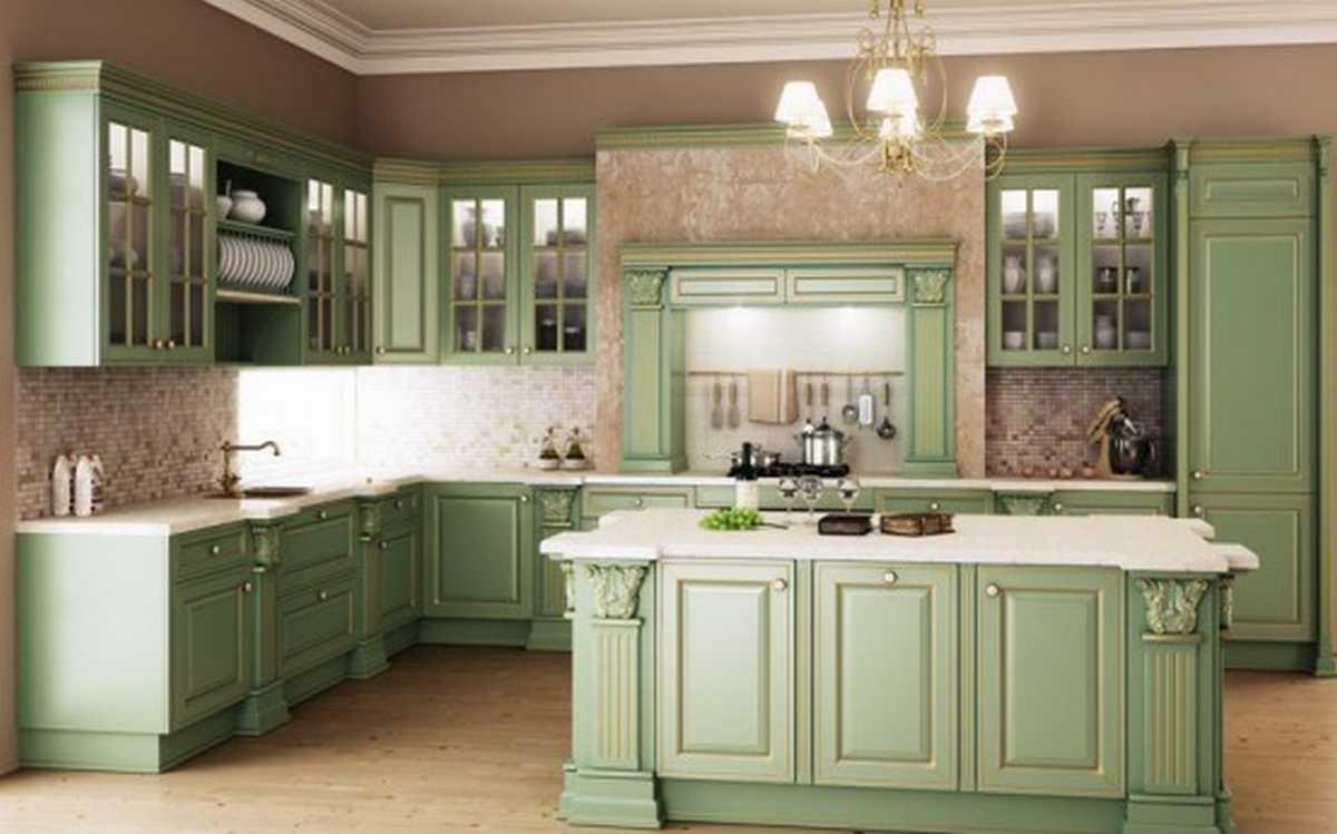 kitchen design ideas green photo - 4