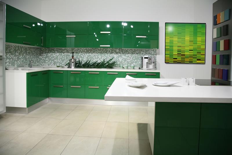 kitchen design ideas green photo - 6