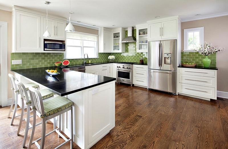 kitchen design ideas green photo - 7