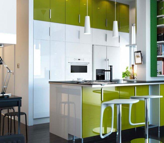 kitchen design ideas green photo - 8