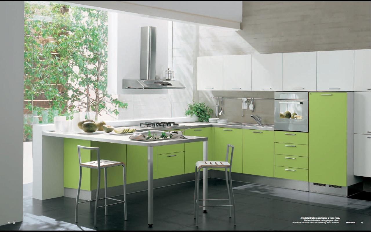 kitchen design ideas green photo - 9