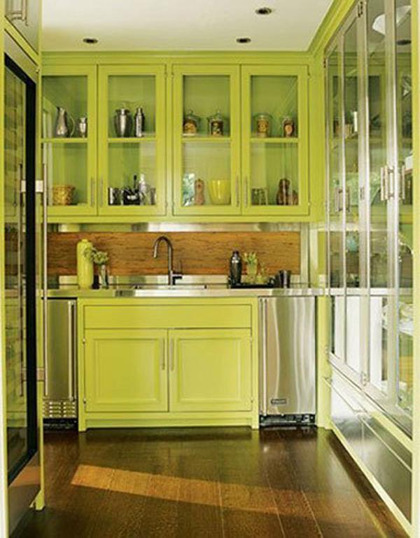kitchen design ideas green cabinets photo - 5