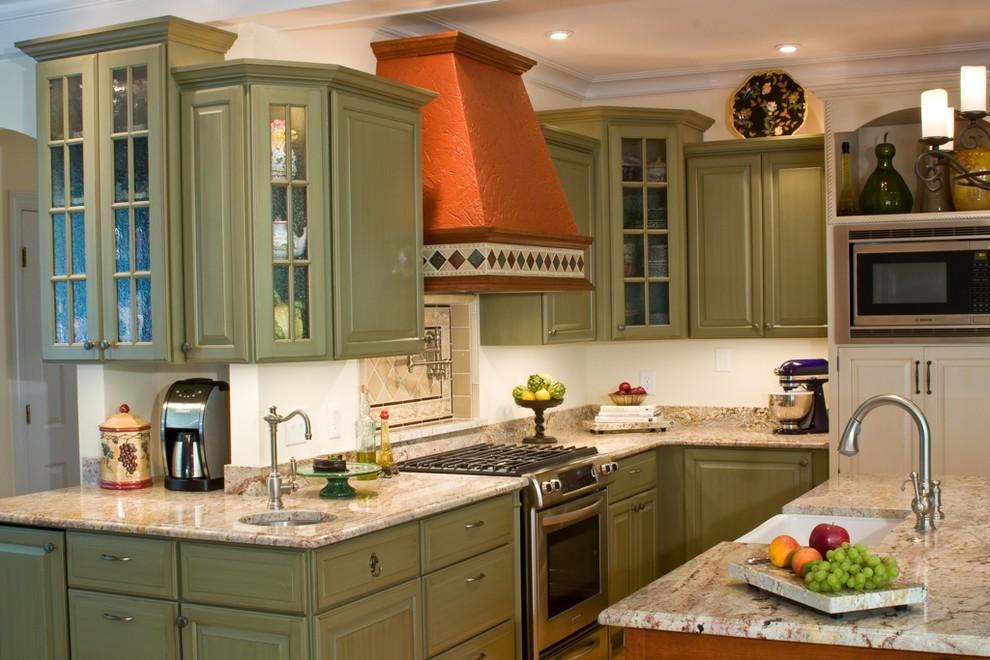 kitchen design ideas green cabinets photo - 6