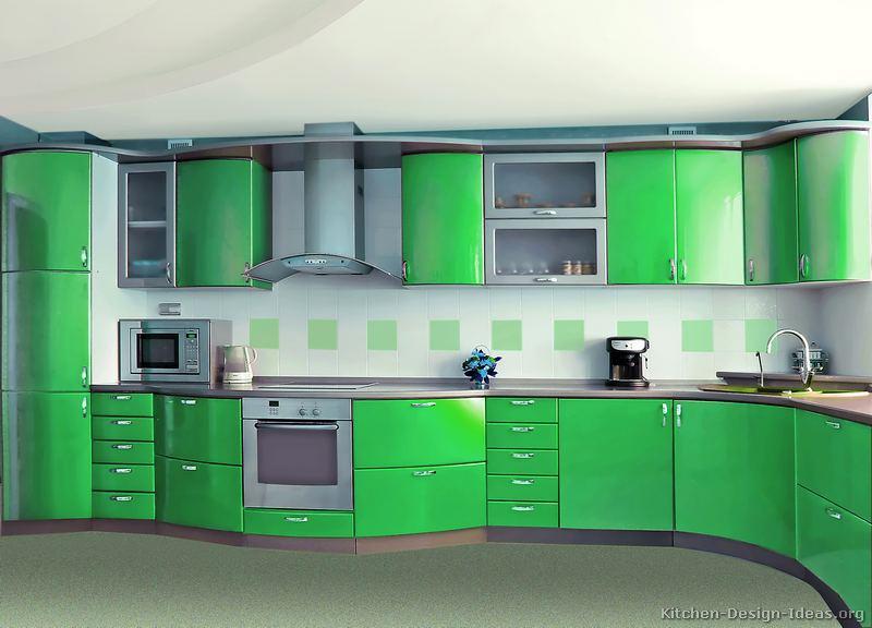 kitchen design ideas green cabinets photo - 8