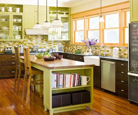 kitchen design ideas green cabinets photo - 9