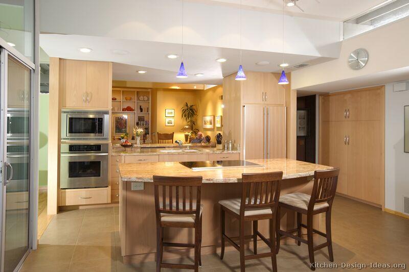kitchen design ideas light wood cabinets photo - 2