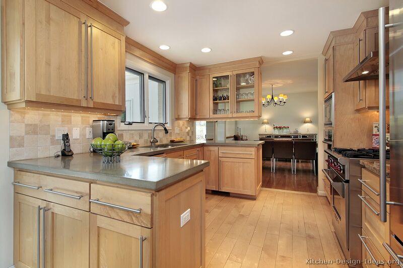 kitchen design ideas light wood cabinets photo - 3