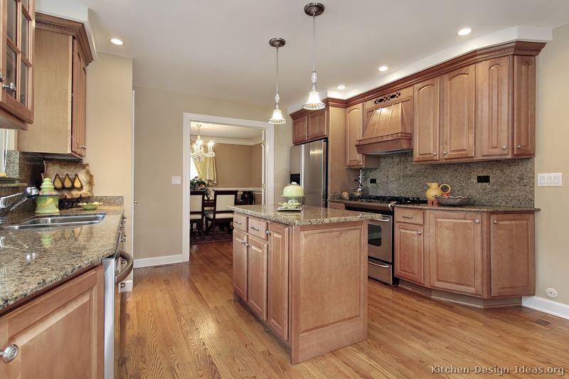 kitchen design ideas light wood cabinets photo - 4