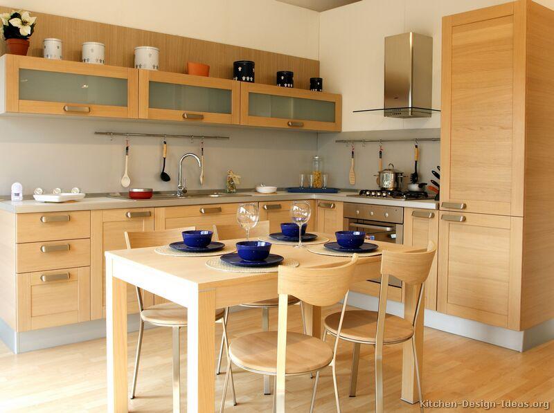 kitchen design ideas light wood cabinets photo - 7