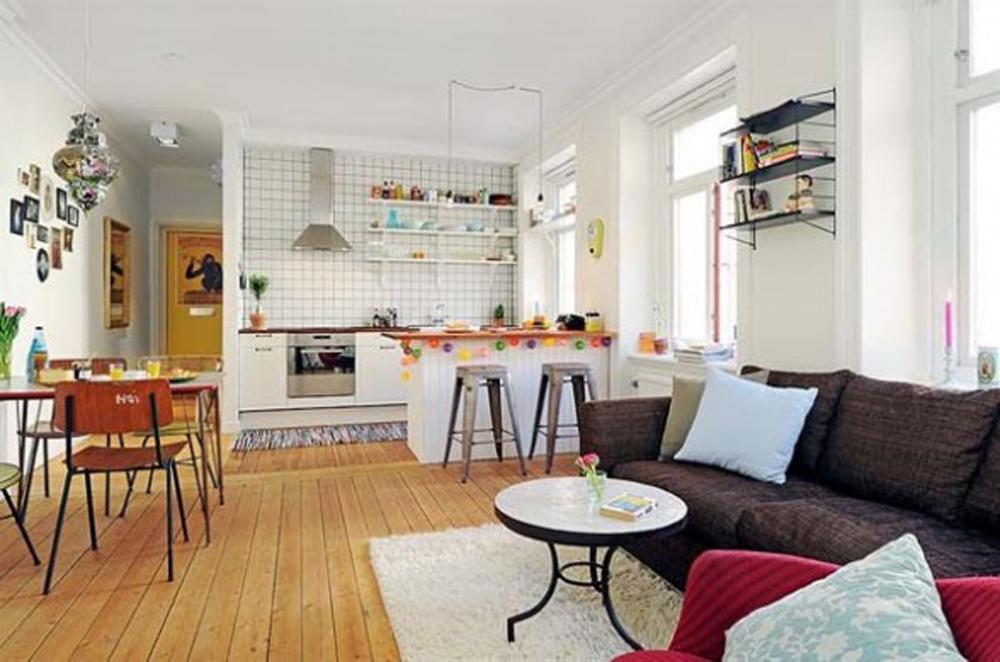 kitchen design ideas open living room photo - 10