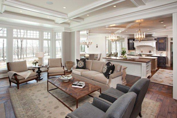 kitchen design ideas open living room photo - 5