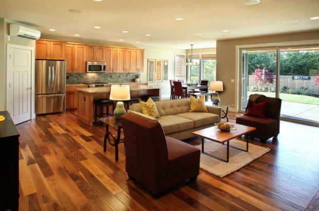 kitchen design ideas open living room photo - 7