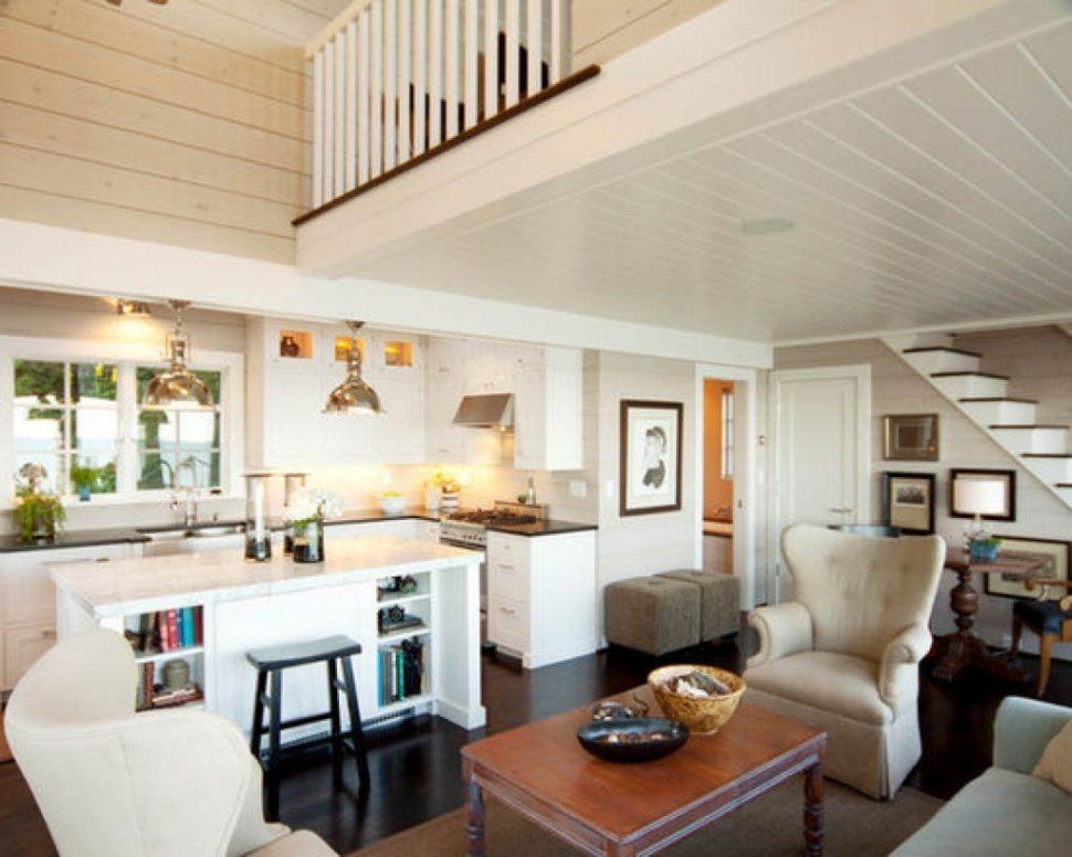 kitchen design ideas open living room photo - 8