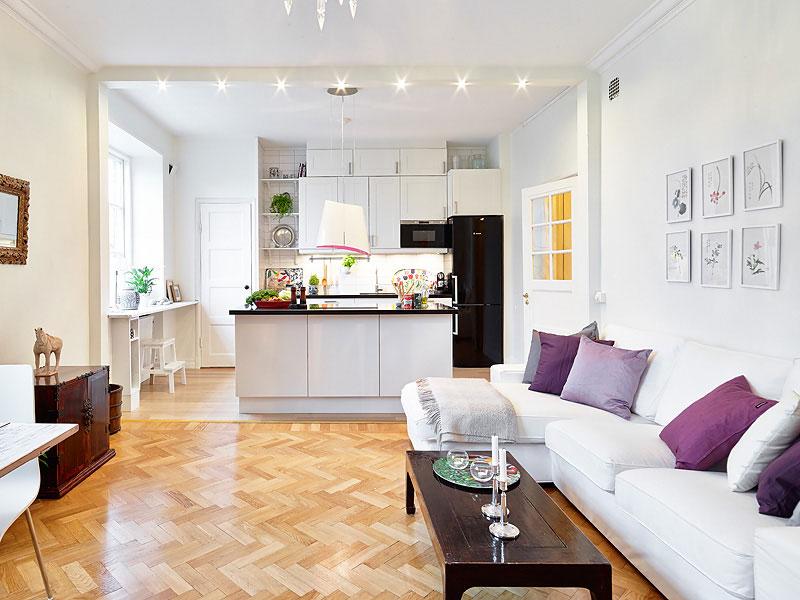 kitchen design ideas open living room photo - 9