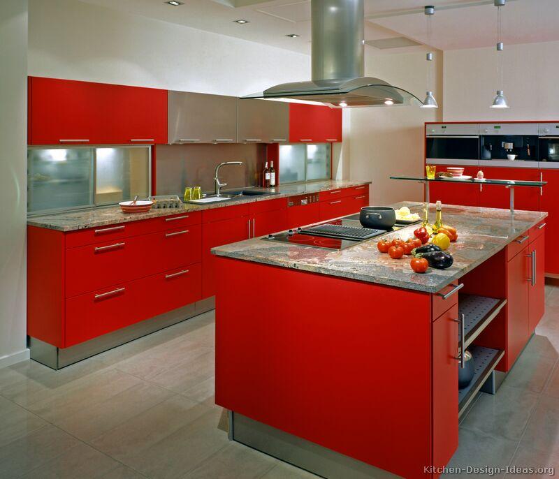 kitchen design ideas red photo - 1