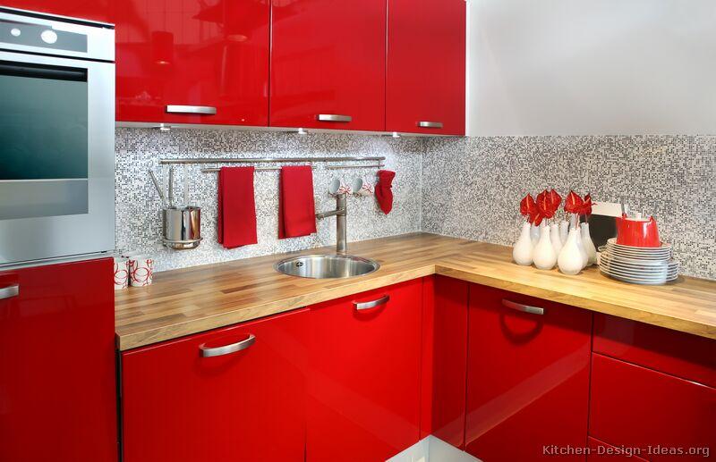 kitchen design ideas red photo - 2