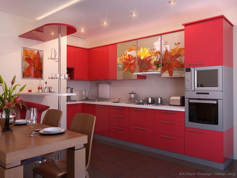 kitchen design ideas red photo - 3