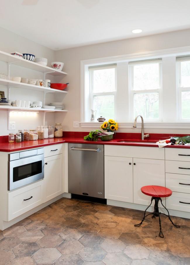 kitchen design ideas red photo - 4