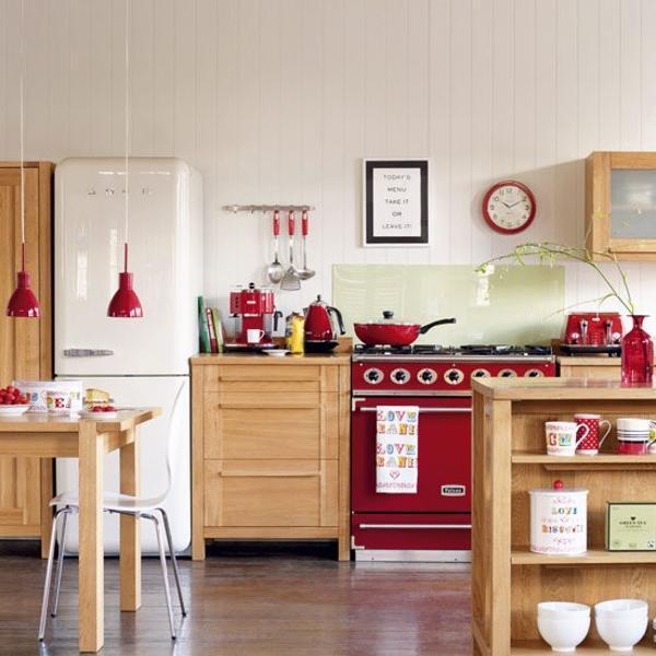 kitchen design ideas red photo - 5