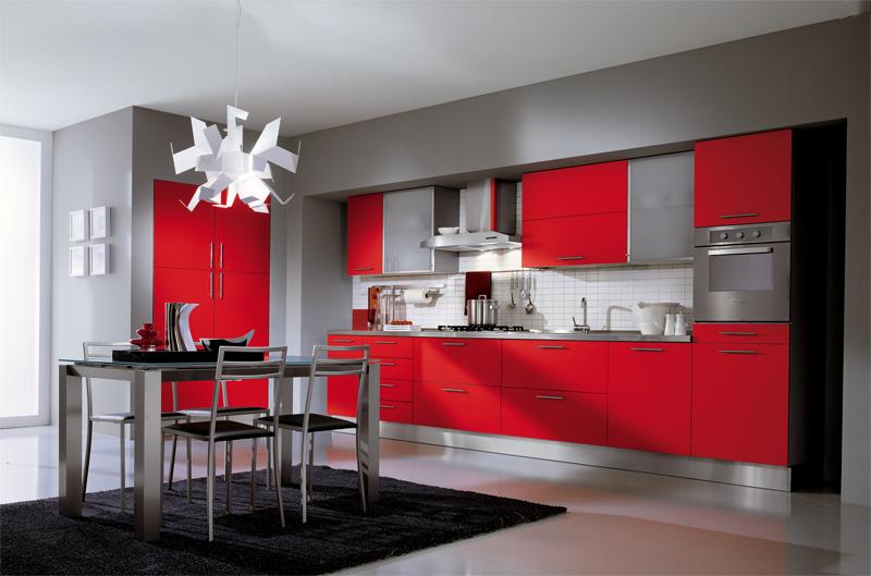 kitchen design ideas red photo - 6