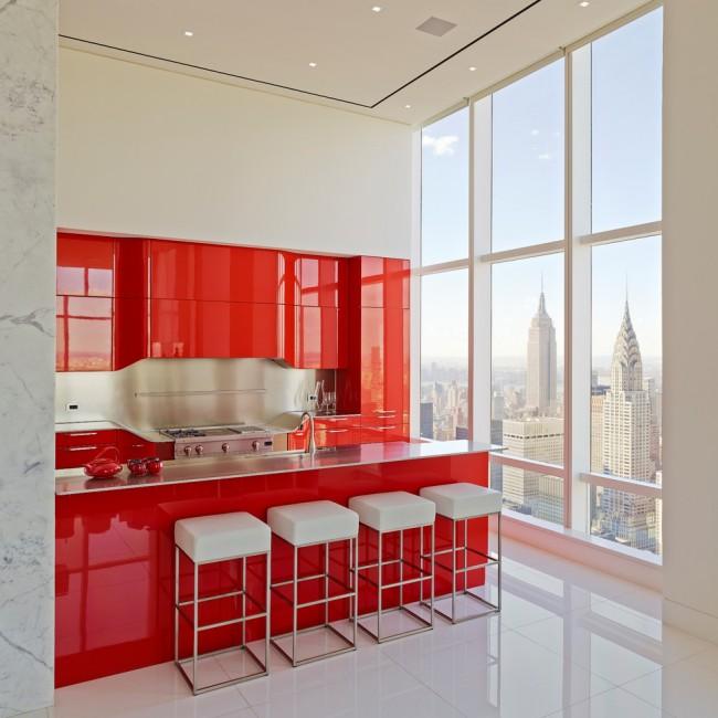 kitchen design ideas red photo - 7