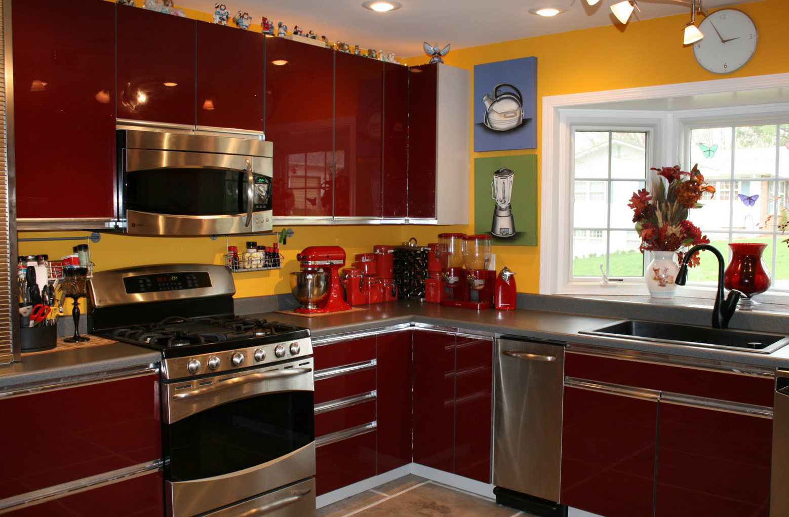 kitchen design ideas red photo - 8