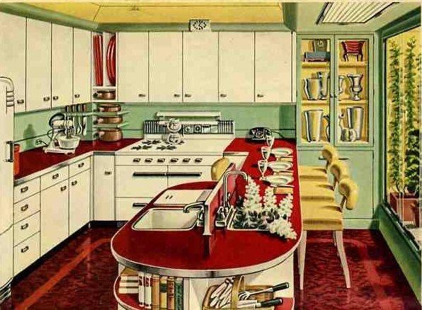 kitchen design ideas retro photo - 6