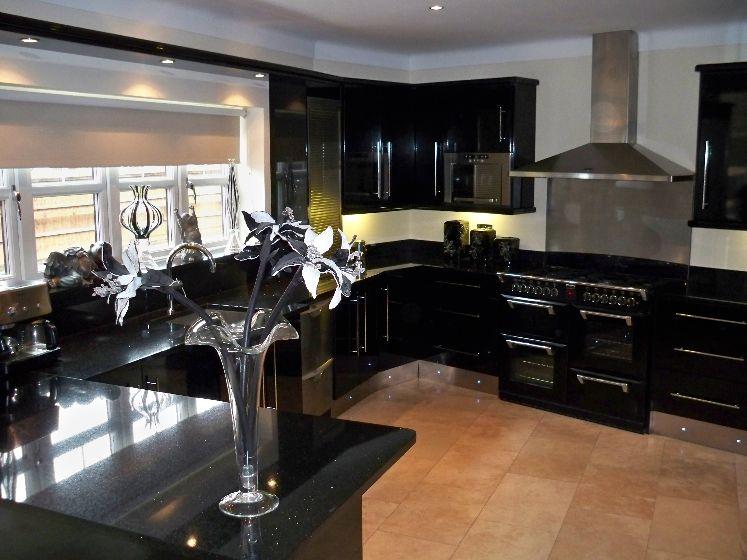 kitchen design ideas with black cabinets photo - 2