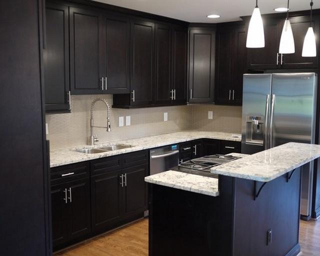 kitchen design ideas with black cabinets photo - 3