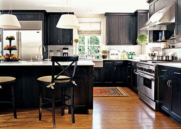 kitchen design ideas with black cabinets photo - 4