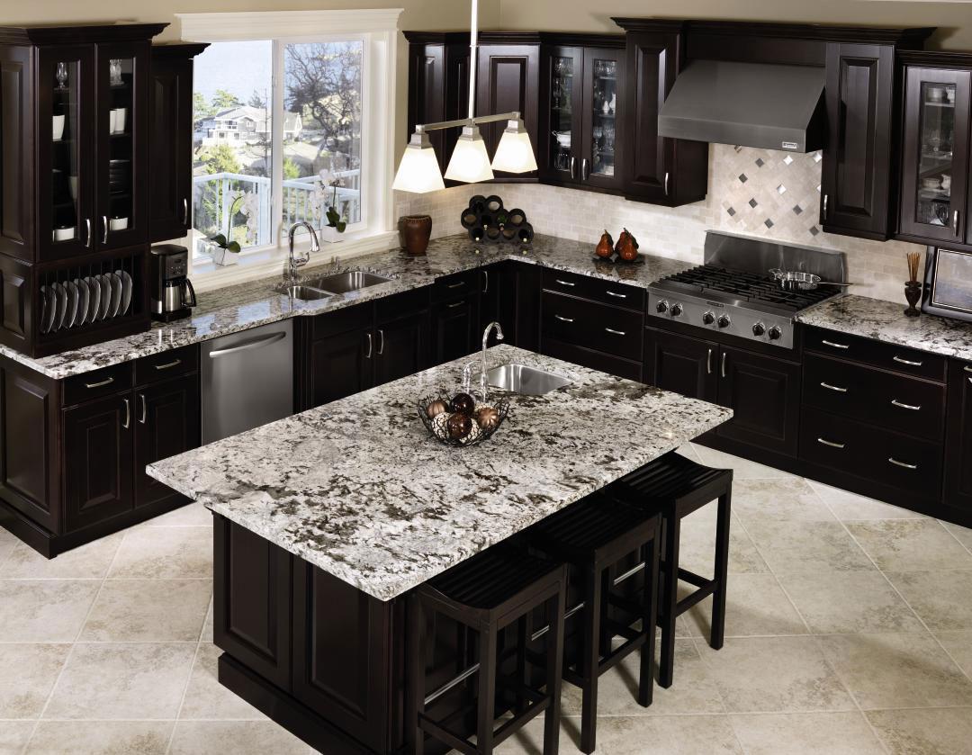 kitchen design ideas with black cabinets photo - 5