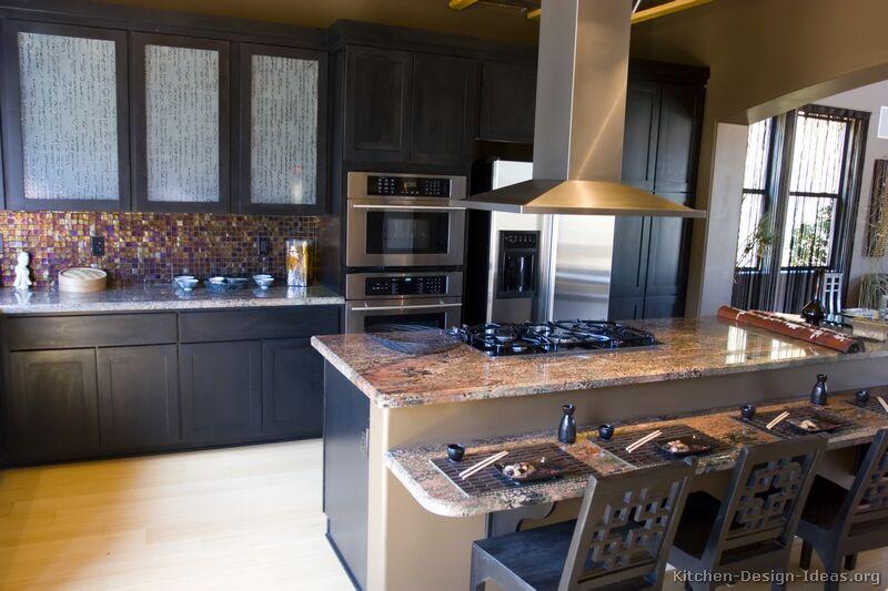 kitchen design ideas with black cabinets photo - 7