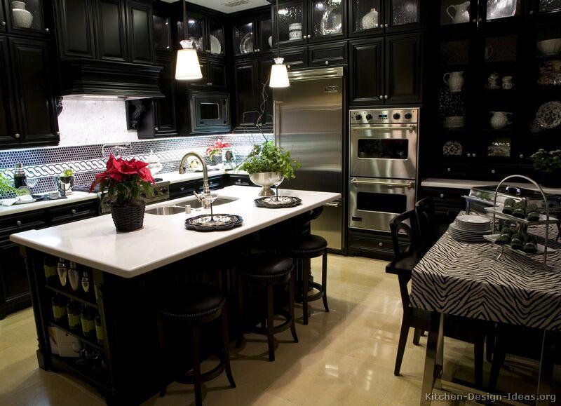 kitchen design ideas with black cabinets photo - 8