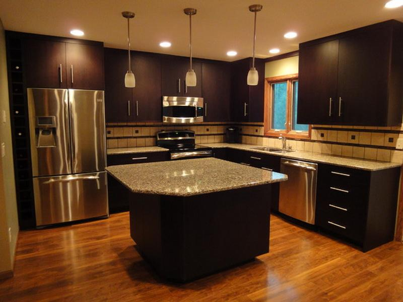 kitchen design ideas with black cabinets photo - 9