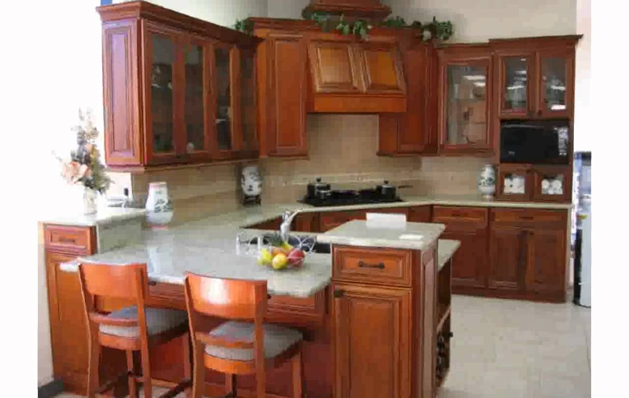 kitchen design ideas with cherry cabinets photo - 7