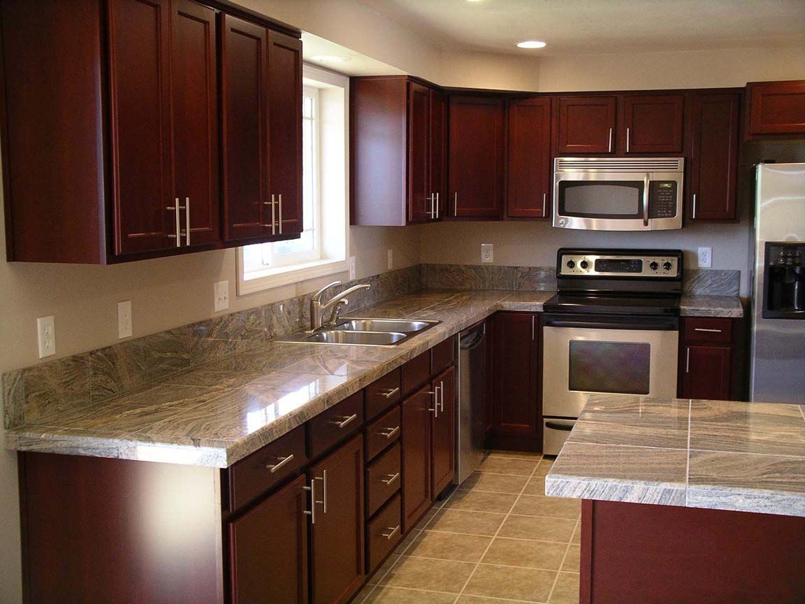 kitchen design ideas with cherry cabinets photo - 9