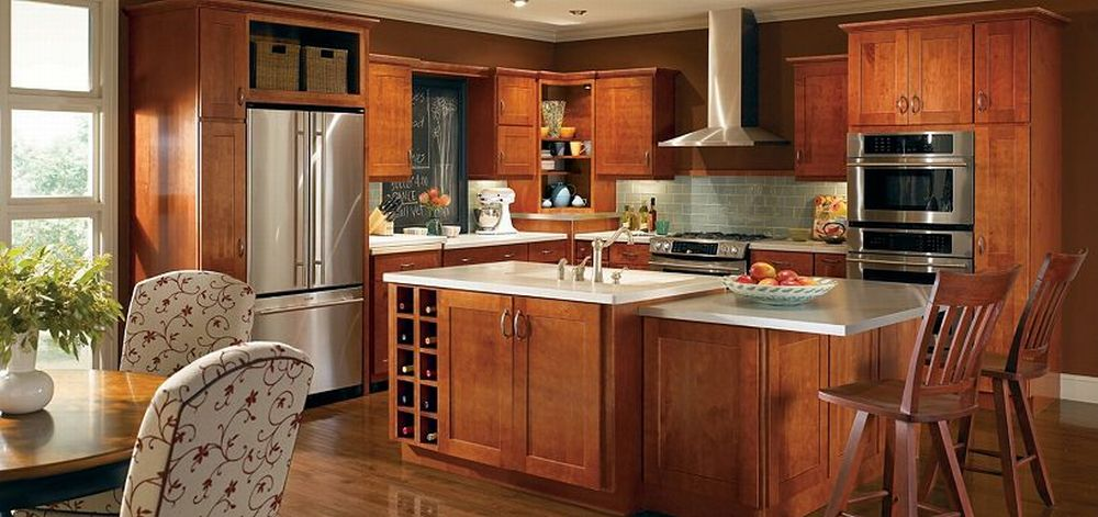 Kitchen design ideas with maple cabinets | Hawk Haven