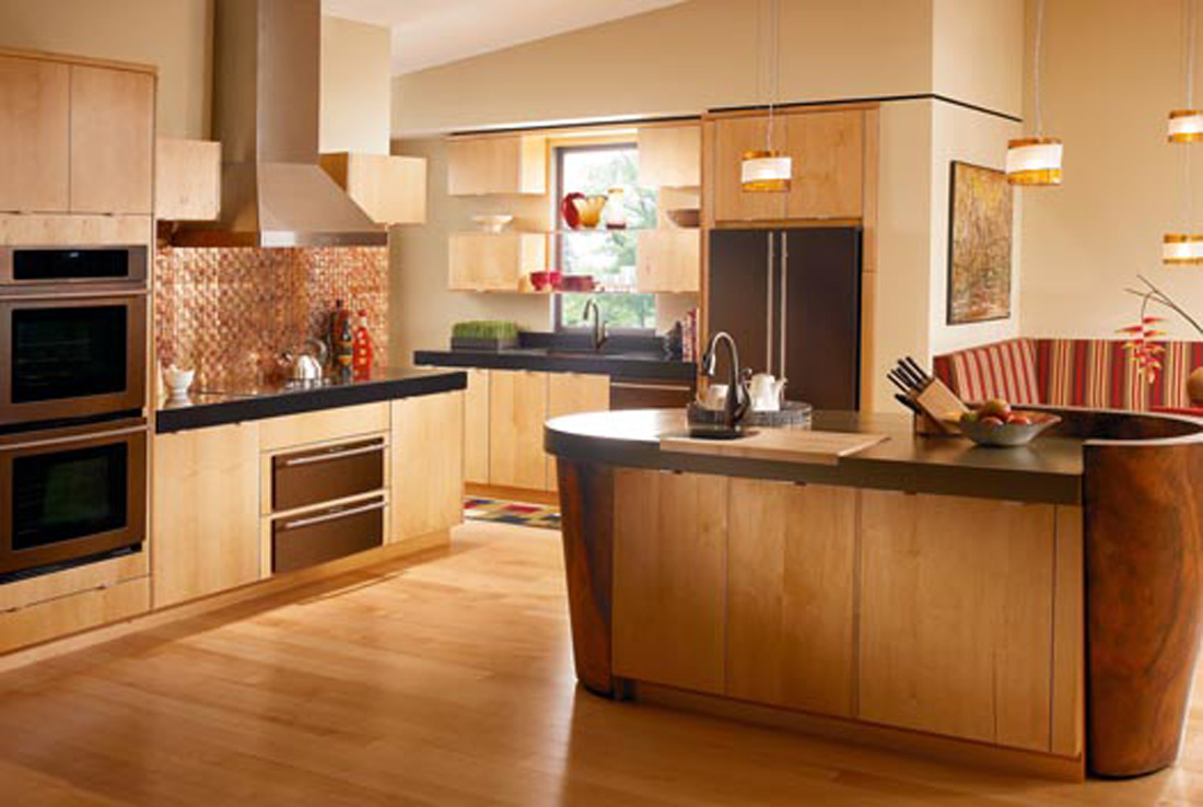kitchen design ideas with maple cabinets photo - 8