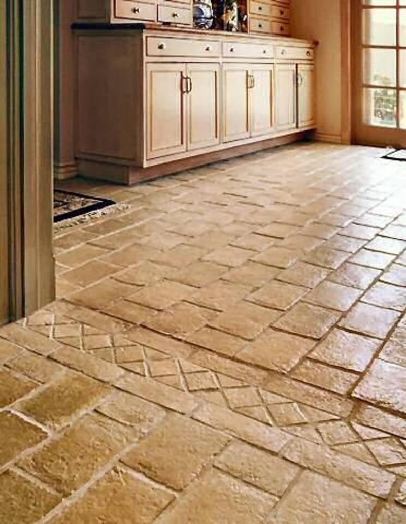 kitchen floor tile photo - 1