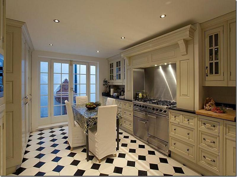 Kitchen Floor Tile Black And White Hawk Haven