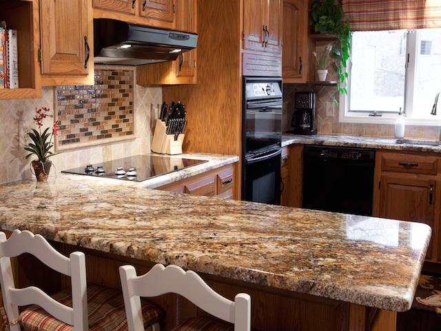 kitchen granite countertop design ideas photo - 8