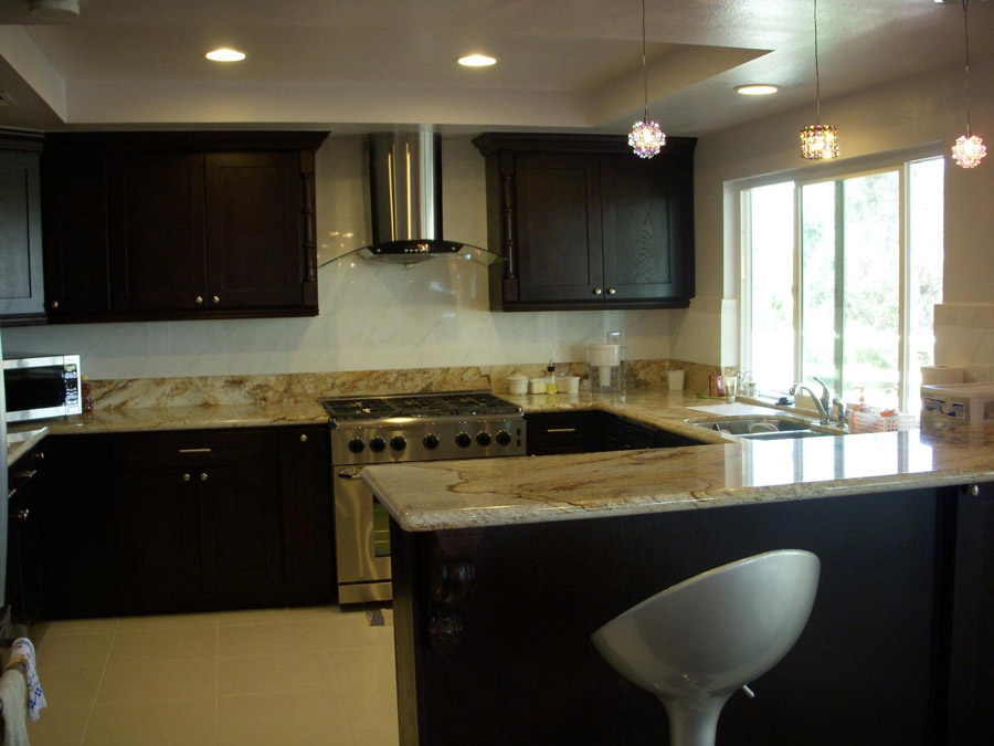 kitchen ideas espresso cabinets photo - 1