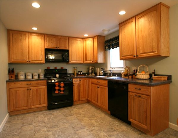 kitchen ideas oak cabinets photo - 4