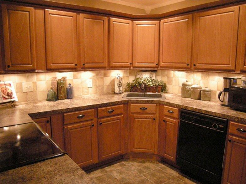 kitchen ideas oak cabinets photo - 6