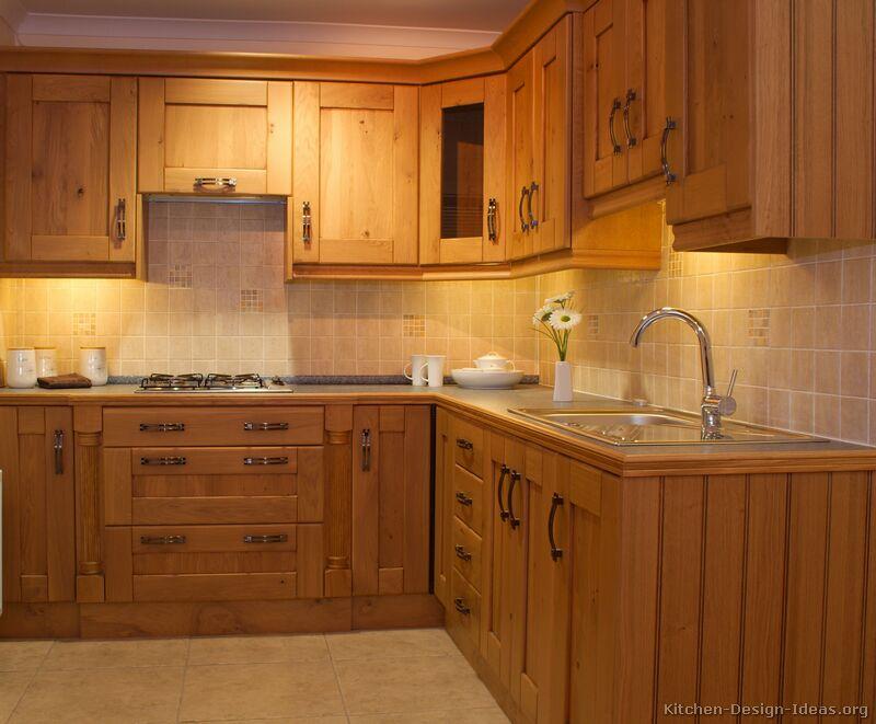 kitchen ideas wood cabinets photo - 10