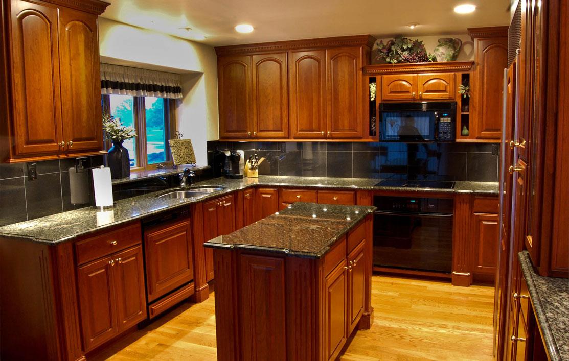 kitchen ideas wood cabinets photo - 7