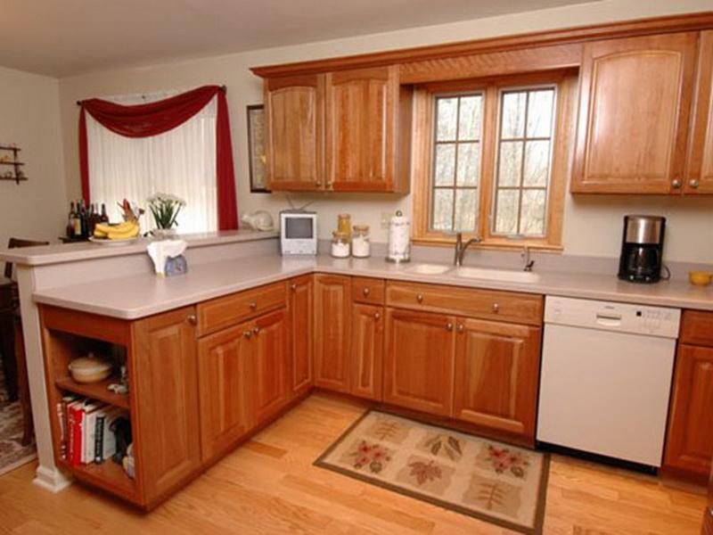 kitchen ideas wood cabinets photo - 8