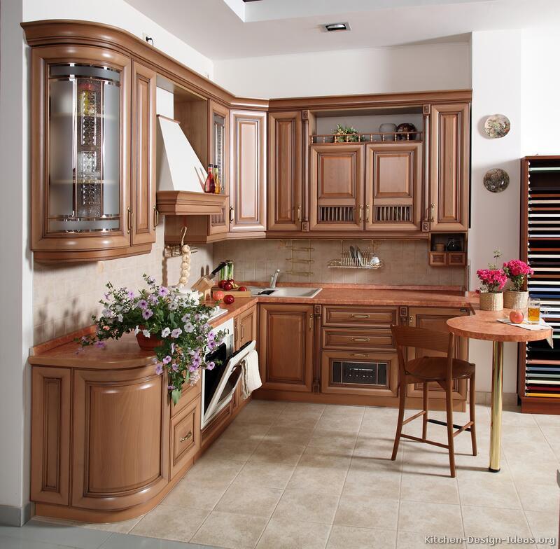kitchen ideas wood cabinets photo - 9